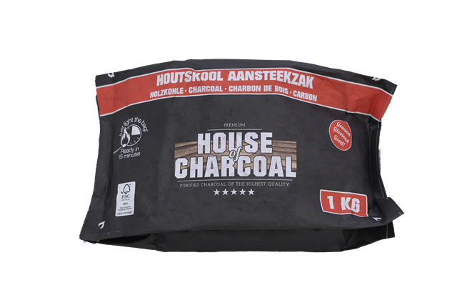 4524C – Light the bag houtskool 1 kg House of Charcoal RBG – web groot