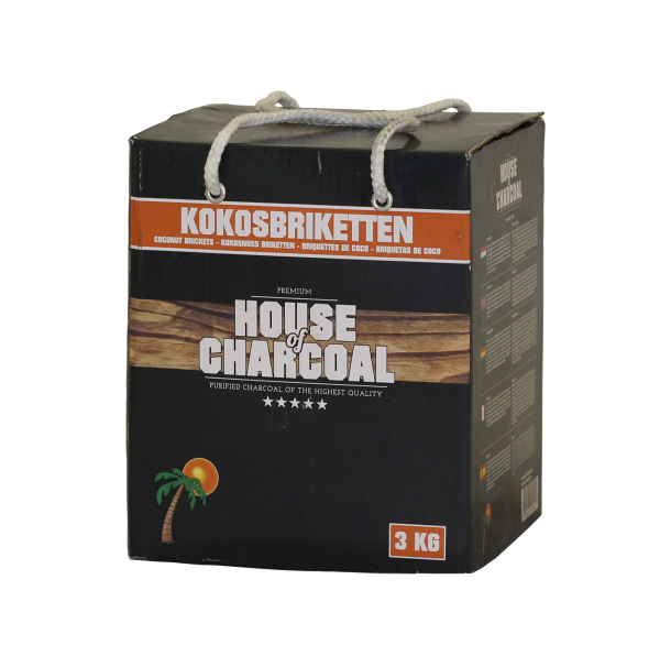 32008C – Kokosbriketten 3 kg House of Charcoal RBG