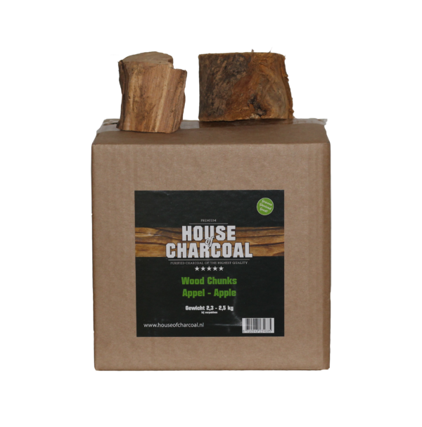 37149 – Rookhout Appel Chunks 2,3-2,5 kg House of Charcoal RBG