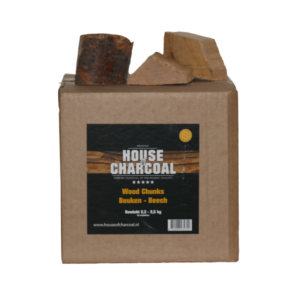 37185 – Rookhout Beuken Chunks 2,3-2,5 kg House of Charcoal
