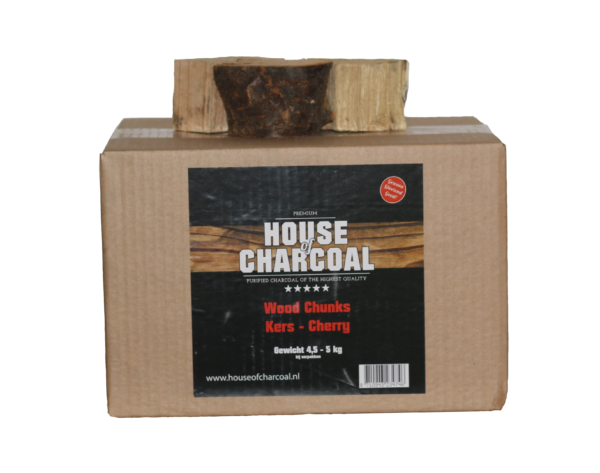 37206 – Rookhout Kers Chunks 4,5-5 kg House of Charcoal RBG